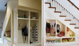 storage under the stairs in your home
