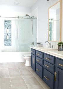 classic blue bathroom cabinets